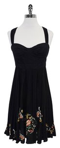 French Connection short dress Black Open Racerback on Tradesy