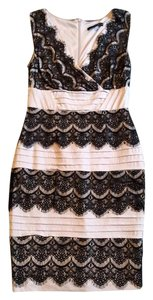 Sangria Lace Trim Dress