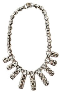 J.Crew New JCrew Silver and Crystal Necklace.