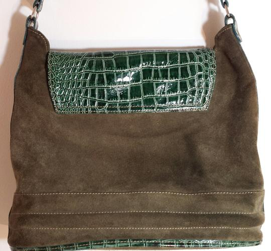Paravidino Suede Leather Mid-century Modern Hobo Bag