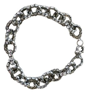 J.Crew New JCrew Silver and Crystal Chain Necklace.