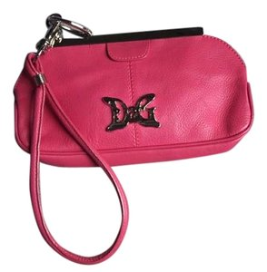 Dolce&Gabbana Leather Vintage Summer Classic D&g Wristlet in Hot Pink