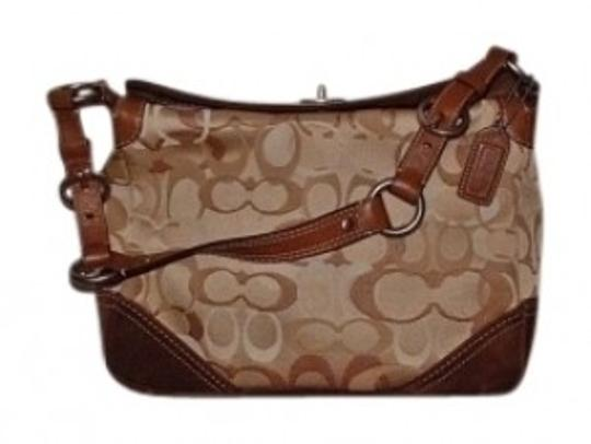Preload https://item5.tradesy.com/images/coach-chelsea-optic-trim-purse-brown-carmel-leather-and-cotton-blend-hobo-bag-157244-0-0.jpg?width=440&height=440