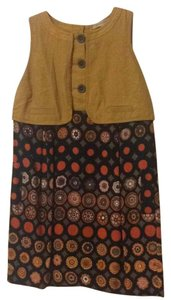 See by Chloé short dress Mustard, orange, black, brown, pink on Tradesy