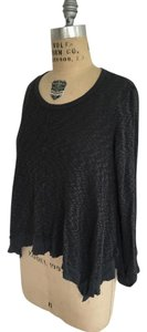 Other Anthropologie Terry Thermal T Shirt Dark Grey