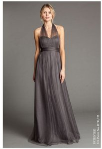 Jenny Yoo Shadow Grey Tulle with Polyester Lining Annabelle Formal Bridesmaid/Mob Dress Size 4 (S)