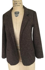 Silence + Noise Tweed Scholar Brown motif Blazer