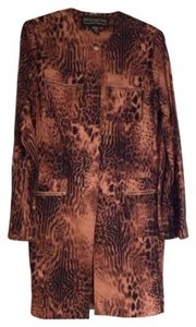 Harris Wallace Long Jacket Top Animal Print
