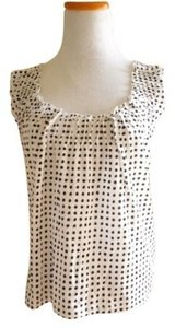 J.Crew Top White with black polka dots