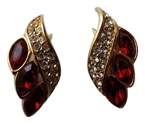 Swarovski Swarovski Crystal Earrings, Ruby Red