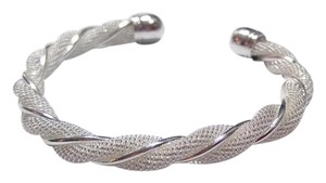 New Sterling Silver Filled Bangle Bracelet Twist J2589