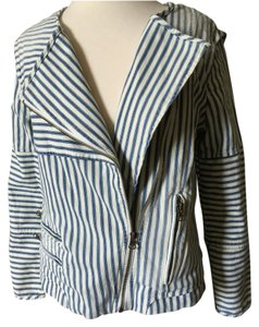 Capulet Stripes Jean Moto Summer Blue Jacket