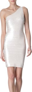 Hervé Leger Sequin Bandage Midi Dress