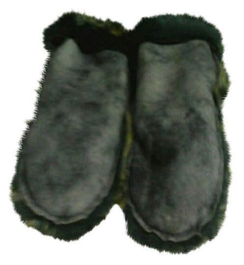 NECKWORKS NECKWORKS BLUE FAUX SUEDE MITTENS -ONE SIZE