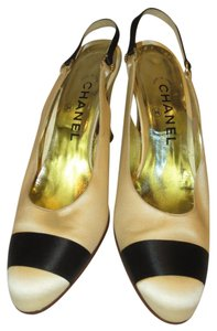 Chanel Satin Evening Ivory / Black Formal