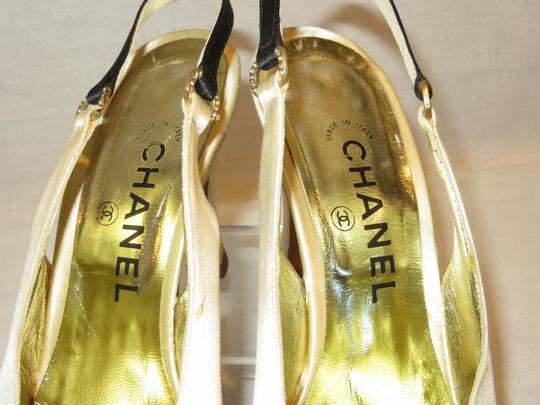 Chanel Satin Evening Made In Italy Ivory / Black Formal Image 1