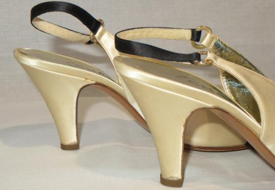 Chanel Satin Evening Made In Italy Ivory / Black Formal Image 2