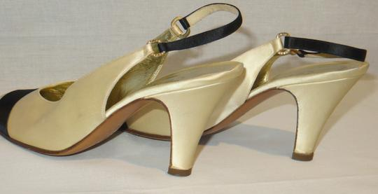 Chanel Satin Evening Made In Italy Ivory / Black Formal Image 3