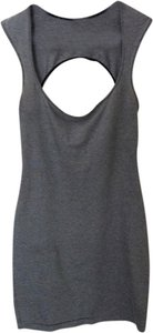 American Apparel short dress Black/white Backless on Tradesy