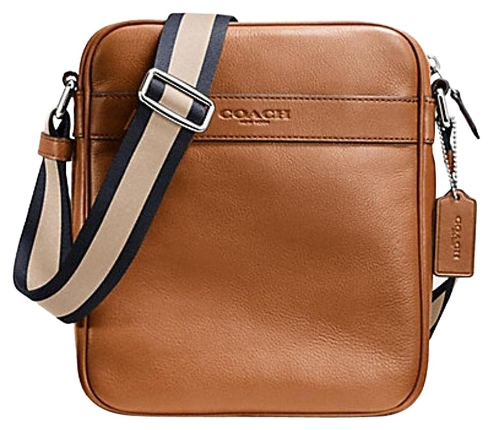 be5ac18a7a Coach Saddle F71723 Flight Crossbody In Smooth In Color Saddle Leather  Messenger Bag