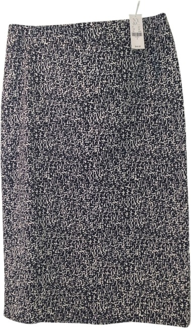 New York & Company Pencil Skirt Black and White