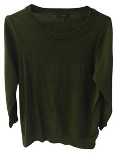 J.Crew Green Sweater Pullover Top dark green
