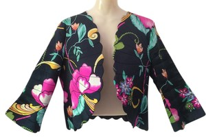 Armani Collezioni Midnight with vivid colorful flowers Jacket
