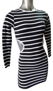 Topshop Cut-outs Striped Stretchy Dress