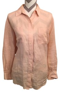 Lauren Ralph Lauren Button Down Shirt Peach