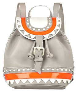 Sophia Webster Leather Ziggy Gray Backpack