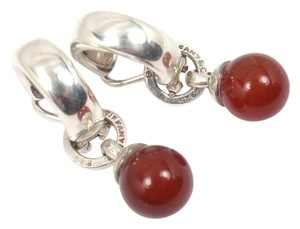 Tiffany & Co. Tiffany & Co Sterling Silver Carnelian Fascination Clip-On Earrings