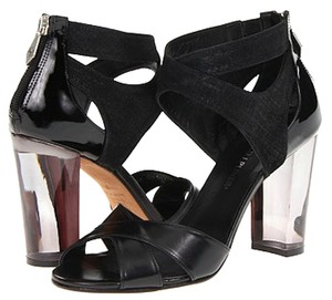 Donald J. Pliner Leather Lucite Salon Black/Black Sandals