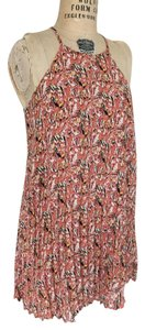 Forever 21 short dress Pink Motif Summer Pleated Halter Floral on Tradesy