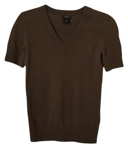 Ann Taylor V-neck Top Olive green