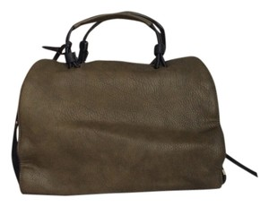 Texas Leather Manufacturing Satchel In Olive Green