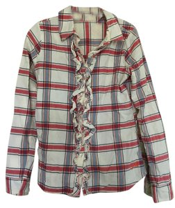 Ezekiel Button Down Shirt Cream,red,blue