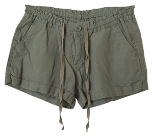 Old Navy Cuffed Linen Cuffed Shorts Green