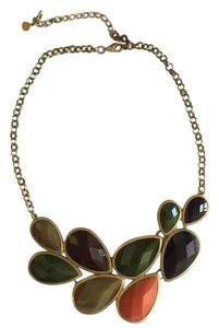 Arden B. Multi-colored tear drop necklace