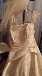Maggie Sottero Champagne Gold And Accesories Feminine Wedding Dress Size 14 (L)