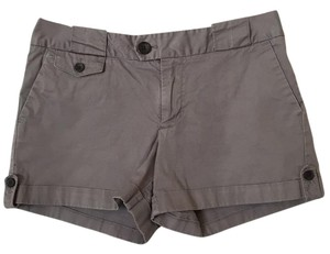 Banana Republic Cuffed Khaki Cuffed Shorts Gray