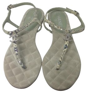 Chanel Greenish Sandals
