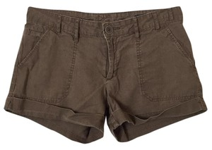 Gap Linen Cuffed Shorts Brown