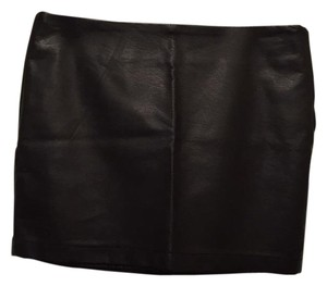 Forever 21 Faux Leather Mini Mini Skirt Black