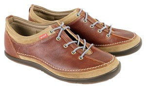 Ecco Comfortable All Leather Brown Athletic
