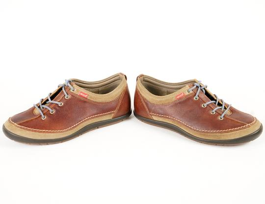 Ecco Comfortable All Leather Brown Athletic Image 2