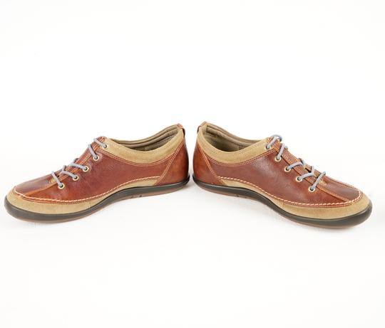 Ecco Comfortable All Leather Brown Athletic Image 3