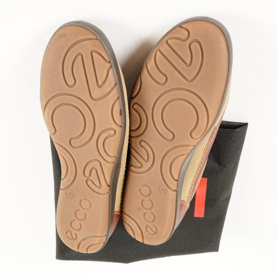 Ecco Comfortable All Leather Brown Athletic Image 4