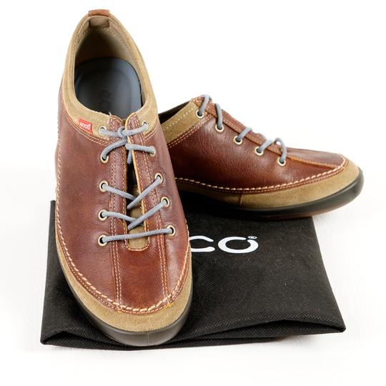 Ecco Comfortable All Leather Brown Athletic Image 7