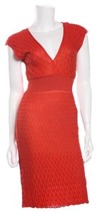 M Missoni short dress Red on Tradesy