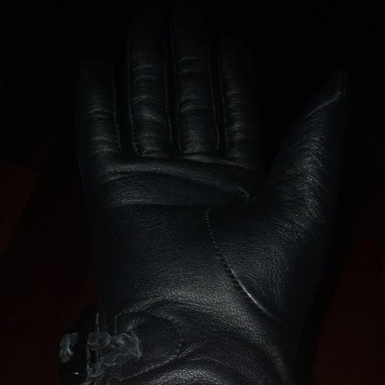 Gap Black Leather Gloves